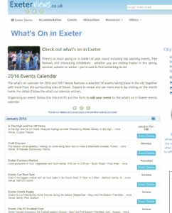 Exeter Events